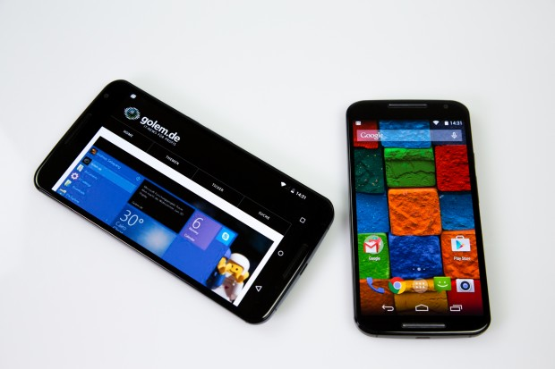 Das Nexus 6 kommt bereits mit Android 5.0, das Moto X muss noch auf das Update warten. (Bild: Tobias Költzsch/Golem.de)