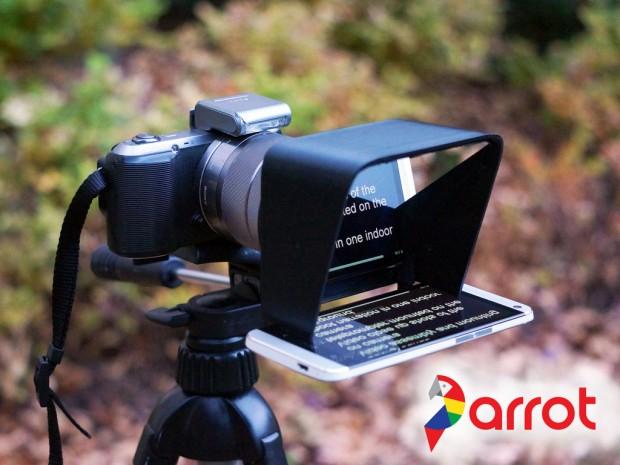 Parrot-Telepromter (Bild: Kickstarter)