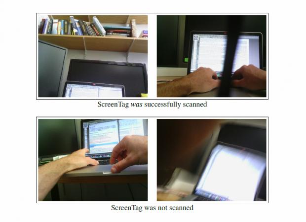 Das ScreenTag, oben links, wird meistens erkannt. (Bild: Arxiv.org)