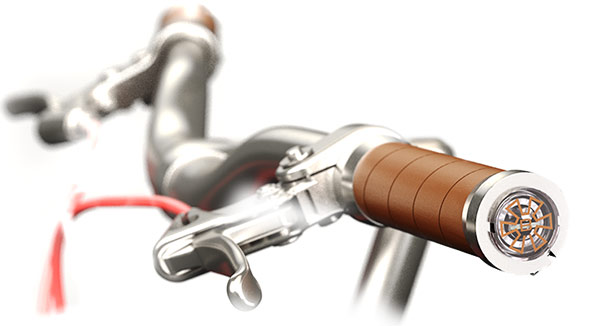 Smrtgrips: Die intelligenten Griffe fürs Fahrrad - Ein in den Lenker eingebauter Smrtgrip (Bild: Smrtgrips)