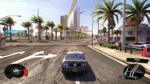 Nach einer langen Fahrt kommen wir in Las Vegas an. (Screenshot: Golem.de)