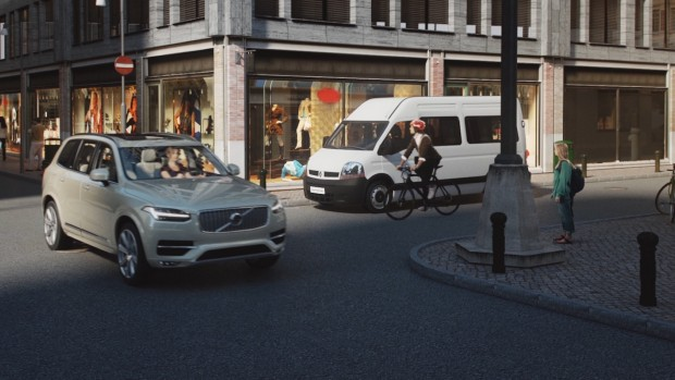 Volvo-Schutzsystem für Radfahrer (Bild: Volvo)