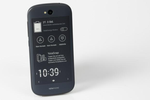 Das E-Paper-Display des Yotaphone 2 mit aktiviertem Yota-Panel (Bild: Fabian Hamacher/Golem.de)