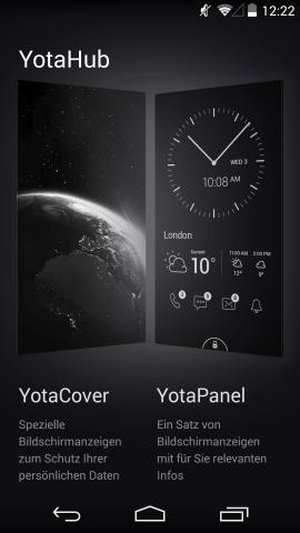 In der Yotahub-App lassen sich Yota-Cover und Yota-Panels konfigurieren. (Screenshot: Golem.de)