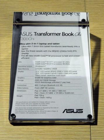 Asus stellt drei Modelle des Transformer Book Chi vor. (Fotos: Nico Ernst)
