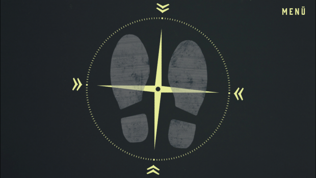 Blowback - Die Suche: Das Kreuz hilft bei der Einschätzung der Drehrichtung. (Screenshot: Golem.de)