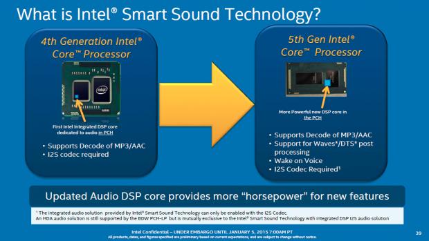 Der Audio-DSP lauscht auf Sprachbefehle und weckt dann den Prozessor. (Bild: Intel)