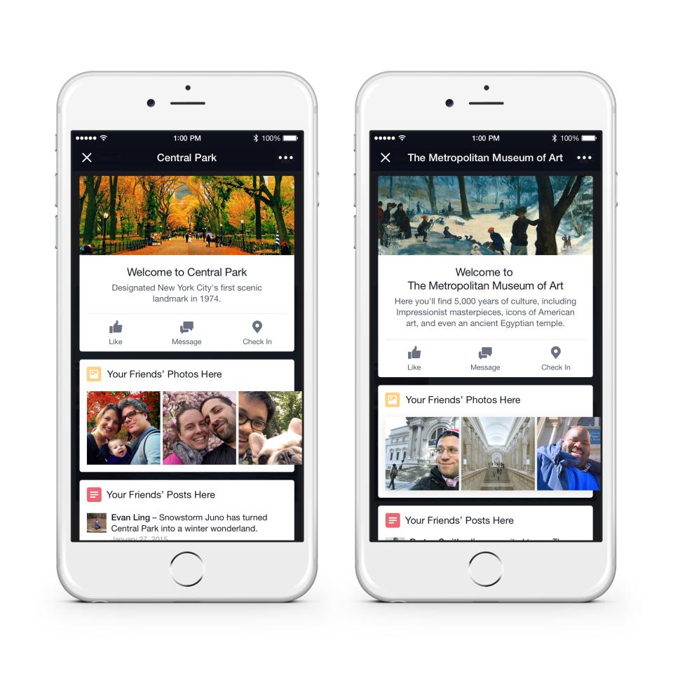 Place Tips: Facebook wird zum Stadtführer - Facebooks neue Funktion Place Tips (Bild: Google)