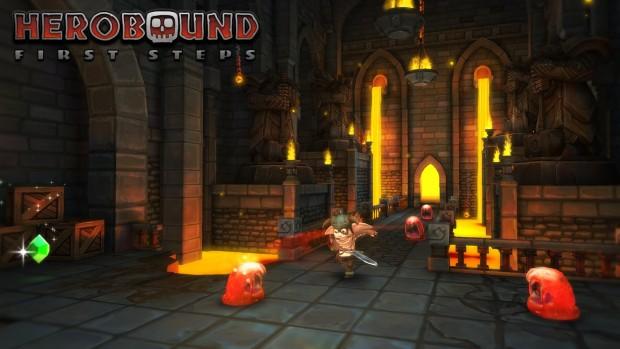 Herobound ist eine Art Zelda für das Gear VR. (Screenshot: Golem.de)