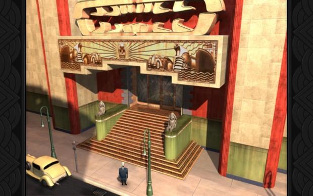 Der Grafikstil von Grim Fandango verwendet viele Art-Deco-Elemente. (Screenshot: Golem.de)