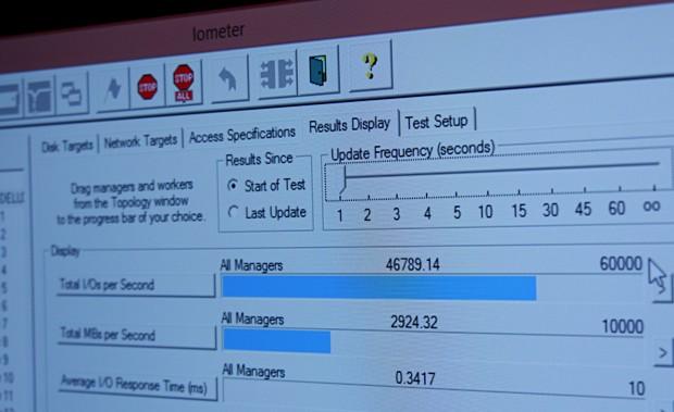 Marvells Eldora-Controller erreicht rund 3 GByte pro Sekunde (Bild: Marc Sauter/Golem.de)