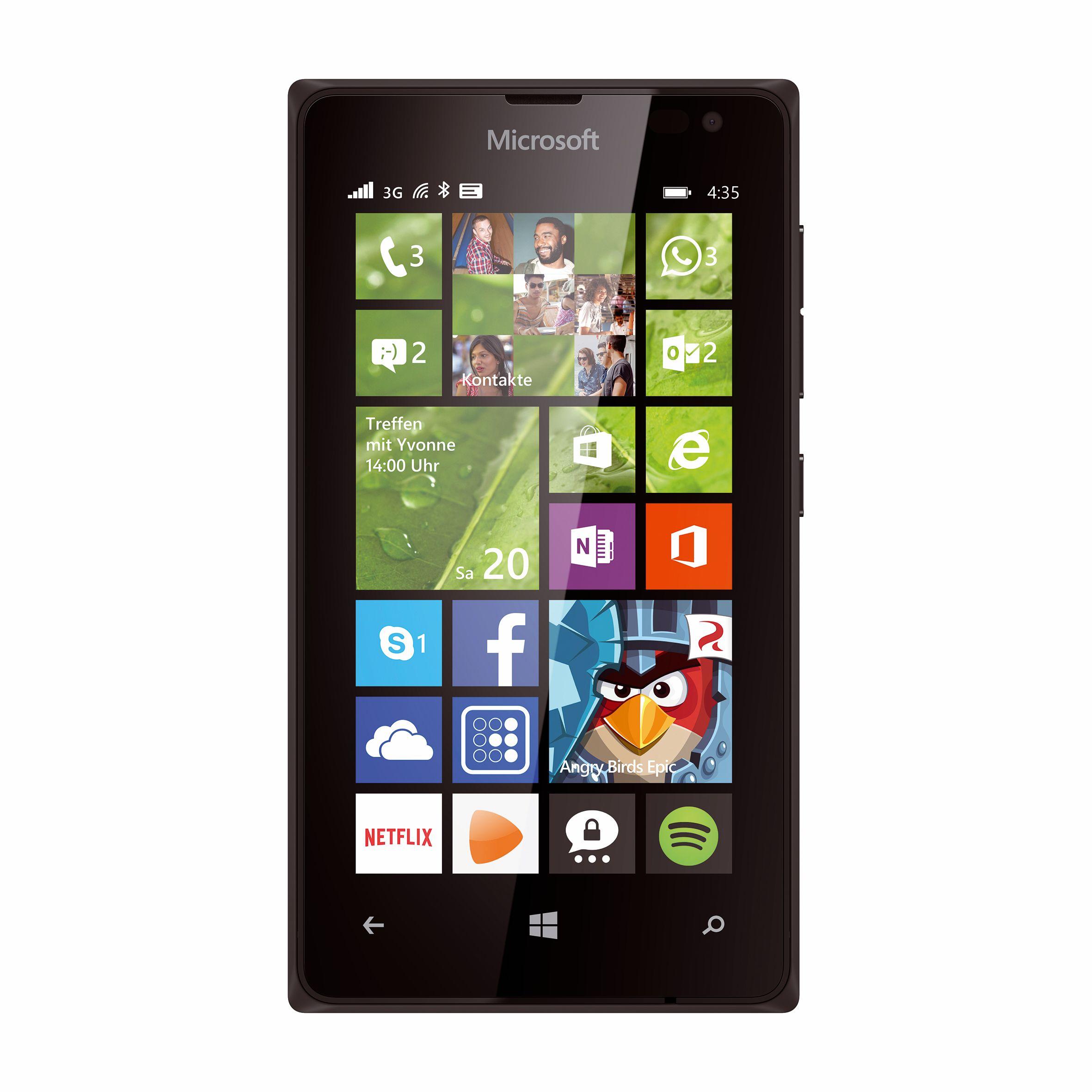 Lumia 435 und Lumia 532: Zwei Windows-Phone-Smartphones für unter 100 Euro - Lumia 435 (Bild: Microsoft)
