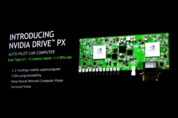 Das Modul Drive PX für zwölf Kameras zur Bilderkennung (Fotos: Nico Ernst/Golem.de)