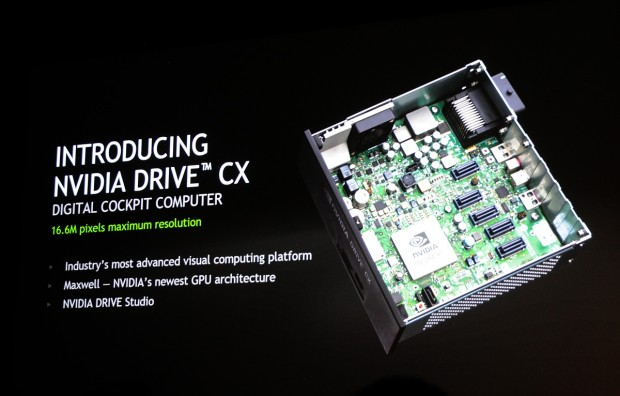 Nvidia stellt Tegra X1 für Autos vor.