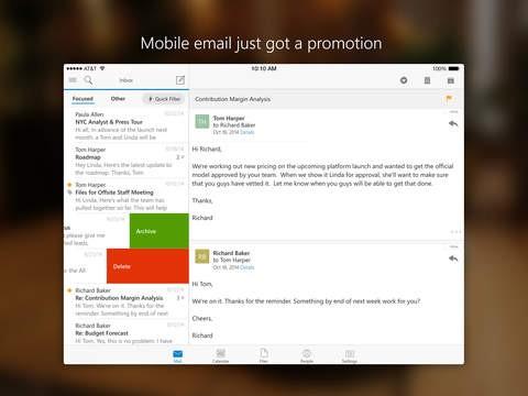Outlook für iOS (Bild: Microsoft)