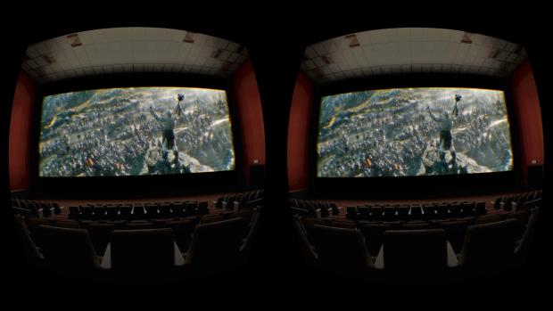 Der Hobbit im VR-Kino (Screenshot: Golem.de)
