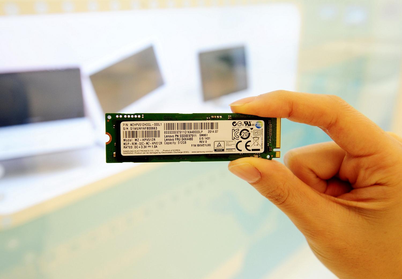 SM951: Samsung hat die schnellste M.2-PCIe-SSD - Die SM951-PCIe-M.2-SSD (Bild: Samsung)