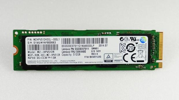 Die SM951-PCIe-M.2-SSD (Bild: Samsung)
