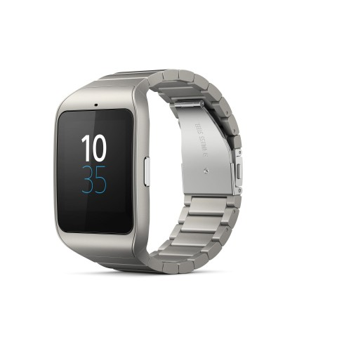 Smartwatch 3 in Edelstahl (Bild: Sony)