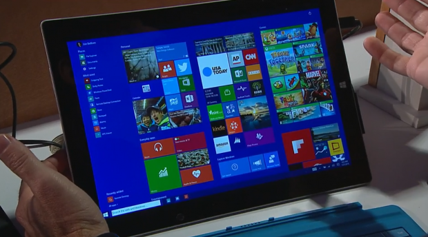 Microsoft zeigt Neues zu Windows 10. (Screenshots: Golem.de)