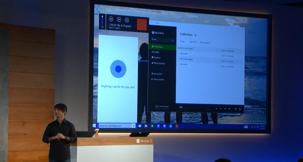 Microsoft zeigt Neues zu Windows 10. (Screenshot: Golem.de)