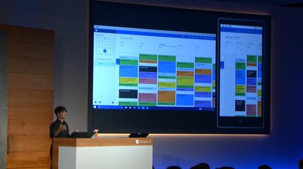 Microsoft zeigt Neues zu Windows 10. (Screenshots: Golem.de)
