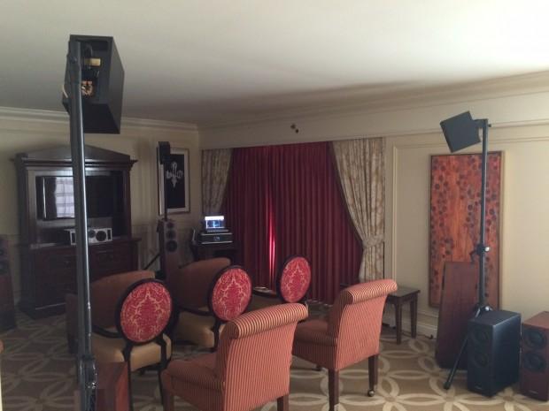 In dieser Suite des Venetian-Hotels wurde uns Auro 3D demonstriert. (Bild: Auro Technologies)