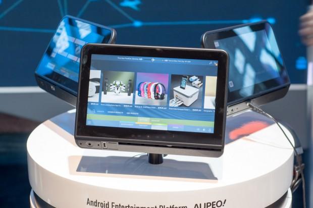 Panasonc Aviation zeigte sein In-Flight-System mit Android... (Fotos: Andreas Sebayang/Golem.de)