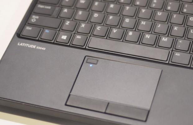 Synaptics will Fingerabdrucksensoren einer neuen Generation auch Notebook-Herstellern anbieten. Hier zu sehen ist ein Prototyp. (Foto: Andreas Sebayang/Golem.de)