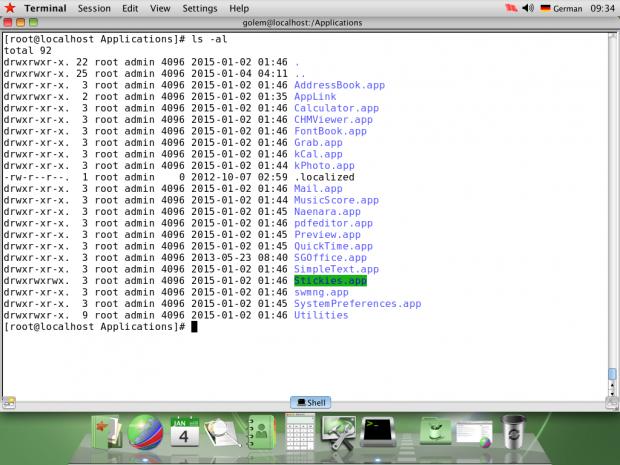 Sämtliche Anwendungen sind wie unter Mac OS X im Ordner Applications einsortiert. (Screenshot: Golem.de)