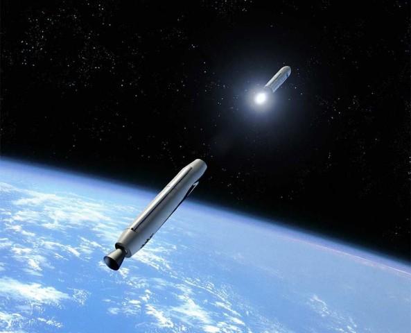 Launcher One ist eine zweistufige Rakete für den Satellitentransport. (Bild: Virgin Galactic)