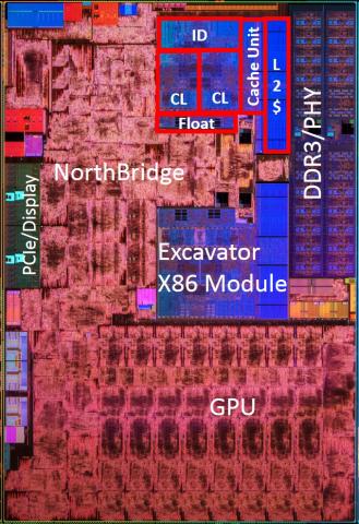 Die-Shot von Carrizo (Bild: AMD)