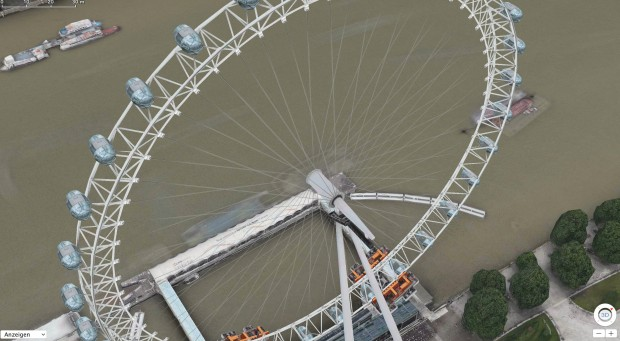 London Eye in Apple Maps (Bild: Apple)