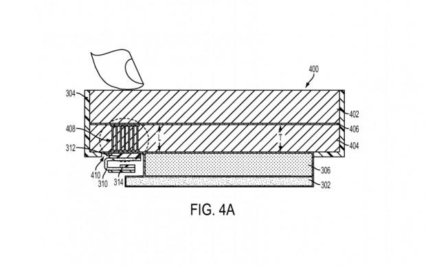 Apple hat ein Patent für einen im Display eingebauten Fingerabdrucksensor zugesprochen bekommen. (Bild: USPTO/Apple)