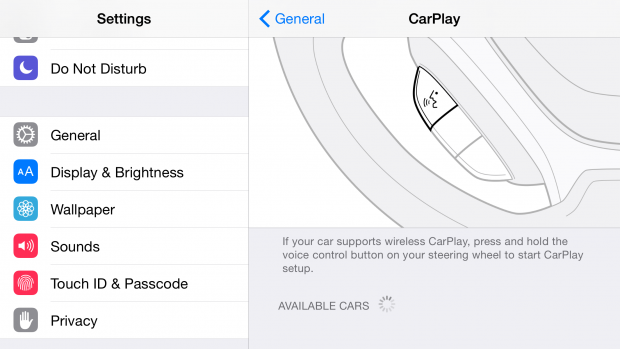 Wireless Carplay in iOS 8.3 (Bild: Macrumors)