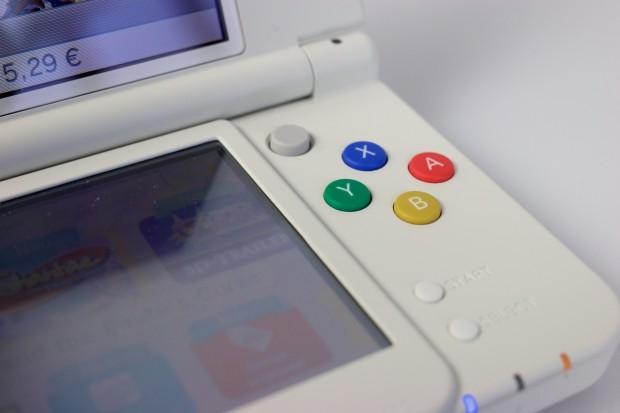 Die Knöpfe des New 3DS sind an das Farbschema des Super-Nintendo-Controllers angelehnt.