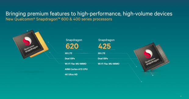 Snapdragon 620 und 425 (Bild: Qualcomm)