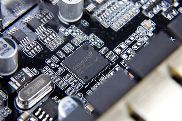 Der Host-Controller für USB 3.1, der ASM1142 (Bild: Martin Wolf/Golem.de)