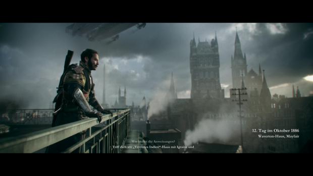 Sir Galahad wirft einen Blick auf das alternative London von 1886. (Screenshot: Golem.de)
