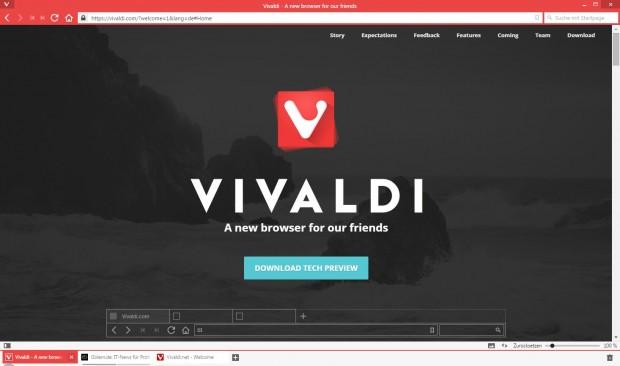Vivaldi-Browser (Screenshot: Golem.de)