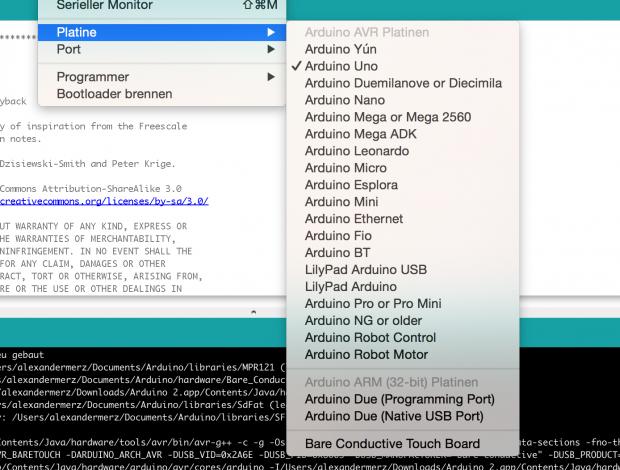Die verfügbaren Compiler-Einstellungen für die Arduino-Boards werden nun besser sortiert (Bild: Alexander Merz/Golem.de)