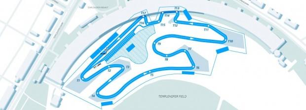 Layout der Strecke für den Berliner E-Prix am 23. Mai 2015 (Bild: FIA)