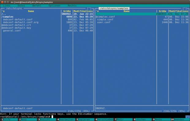 Die Konfigurationsdateien für die verschiedenen Bittorrent-Sync-Instanzen liegen im Verzeichnis /etc/btsync. Dort gibt es auch Vorlagen.