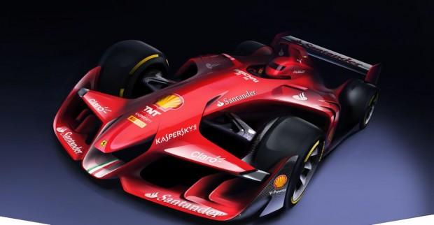 Modernes und  aggressives Design: So stellt sich Ferrari das Formel-1-Auto der Zukunft vor. (Bild: Ferrari)