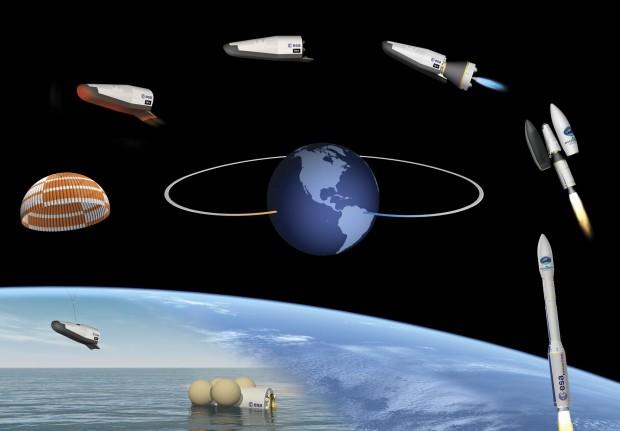 Am 11. Februar 2015 testet die Esa den Wiedereintritt mit dem Raumfahrzeug IXV. (Grafik: J. Huart/Esa)
