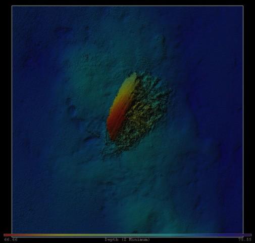 Das Wrack der Mars - Bild des Fächerecholots, aufgenommen vom Expeditionsschiff aus (Bild: Joakim Holmlund/MMT)