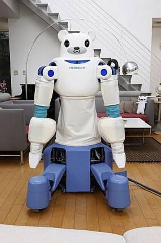 Robear, der robotische Pflegehelfer, ... (Foto: Riken)