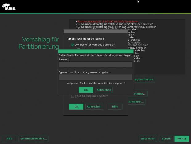 Verschlüsselung der Dateisysteme auf den Festplatten gehört bei SLED zum Lieferumfang. (Screenshots: Linux Magazin)