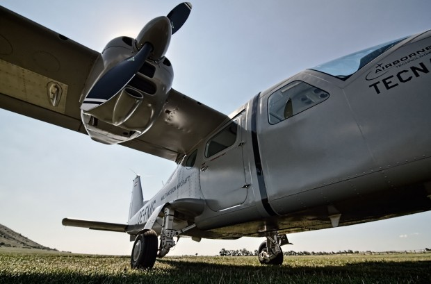 Die Ausgrabungsstätte Carnuntum wird auch mit dem Flugzeug untersucht. (Foto: LBI Arch Pro, Geert Verhoeven)