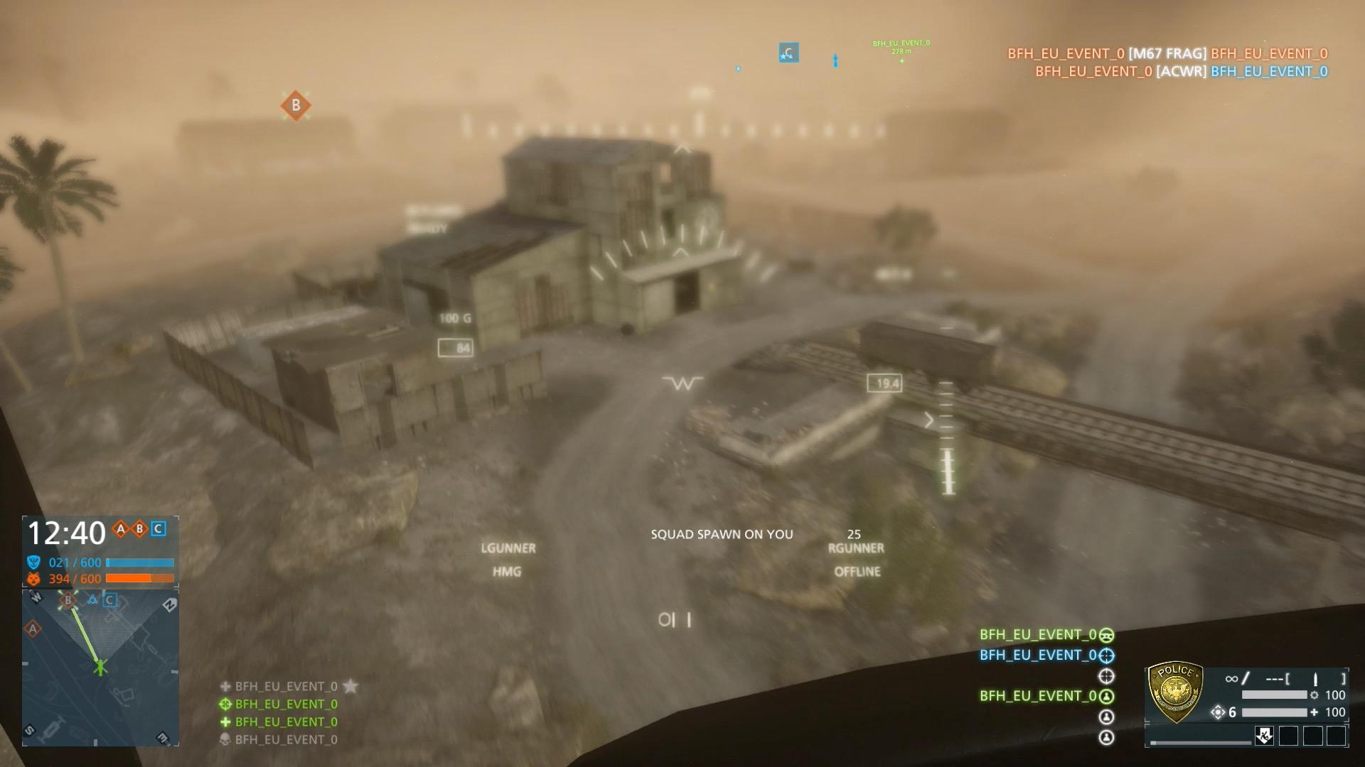 Battlefield Hardline im Test: Guter Shooter mit Charakterschwäche - Der Sandsturm nimmt uns beim Rundflug die Sicht.